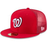 Washington Nationals New Era On-Field Replica Mesh Back 59FIFTY Fitted Hat - Red