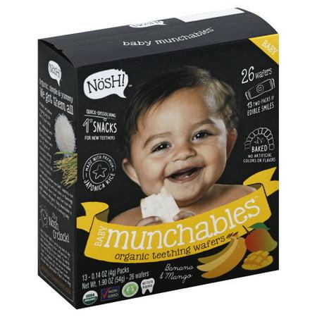 Nosh Baby Munchables Banana and Mango Organic Rice Teething Wafers (Case of 26)