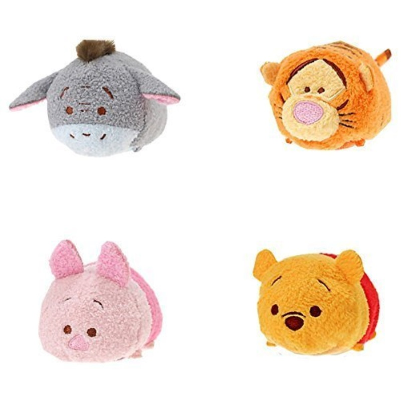 Disney Winnie the Pooh and Pals ''Tsum Tsum'' Plush Mini 3 1 2'' Tigger, Piglet, Pooh, and Eeyore by Disney