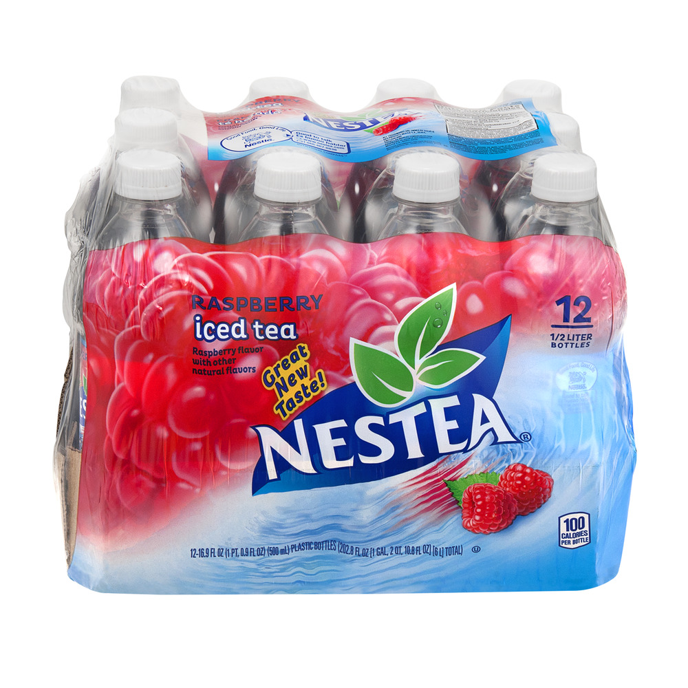 Nestea Iced Tea Raspberry Bottles - 12 CT