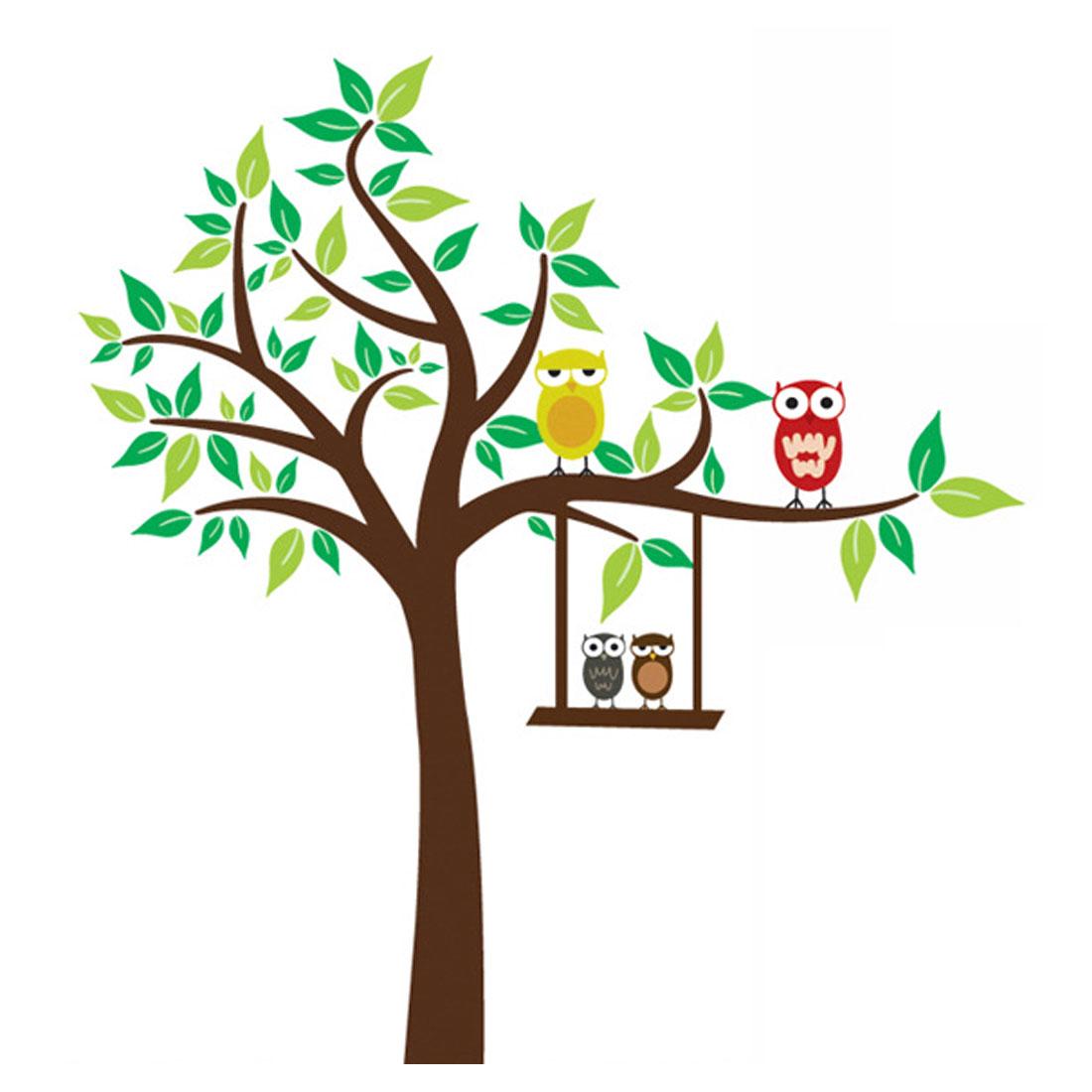 "Decor Brown DIY Removable PVC Owl Whisper Wall Sticker Decal 47""x51"""