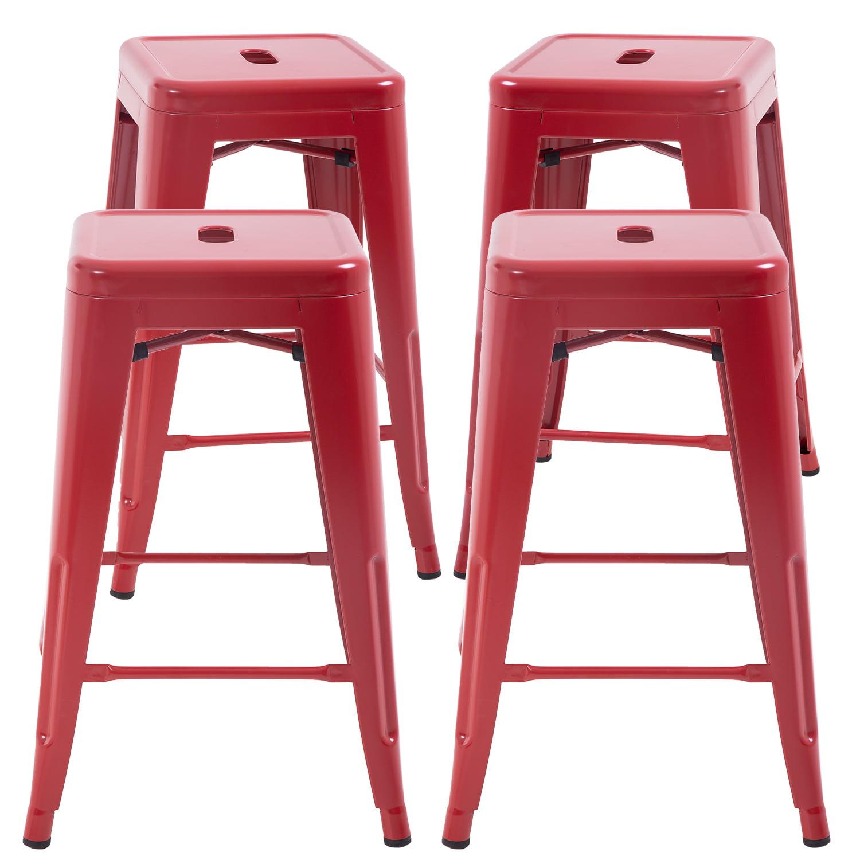 counter height bar stools set of 4 metal bar stools 24