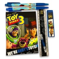 Stationery Set - Toy Story - Black- 6pc Favor Set