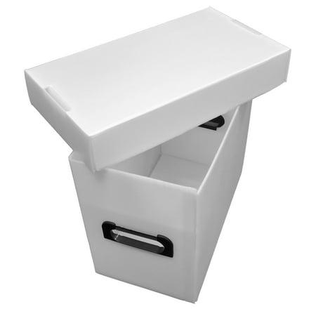 5 Premium Plastic Graded Comic CGC Book Storage Boxes - White - Archival - Book Storage Boxes