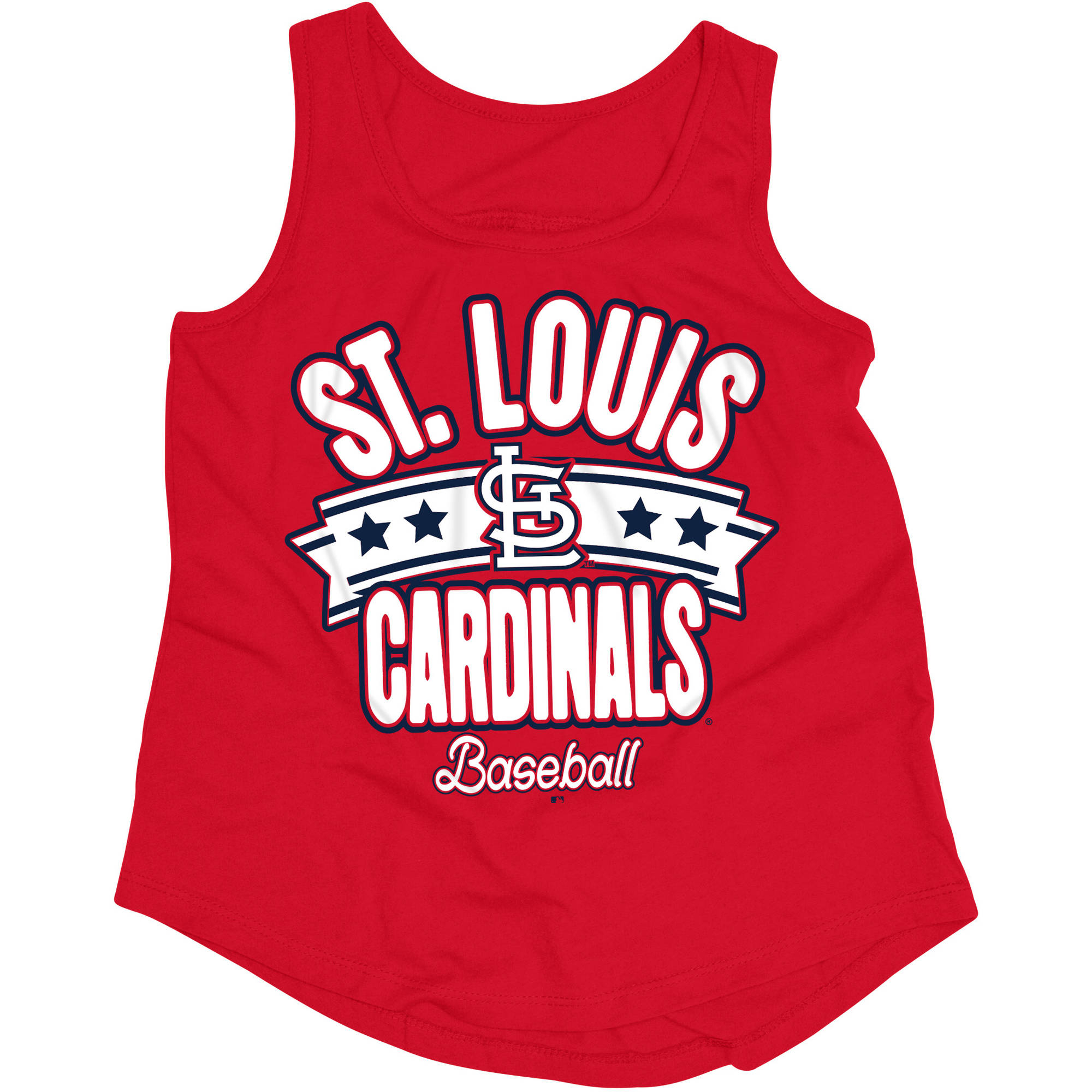 MLB St. Louis Cardinals Girls Short Sleeve Team Color Graphic Tee