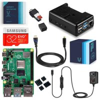 Vilros Raspberry Pi 4 Complete Kit with Black Fan Cooled Case (1GB)