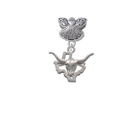 Longhorn - Texas - Guardian Angel Charm Bead