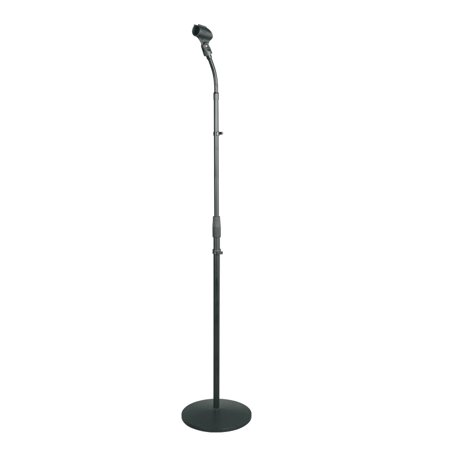 Gooseneck Microphone Xlr Base (PYLE PMKS32 - Universal Microphone Stand - Mic Mount Holder with Adjustable Gooseneck )