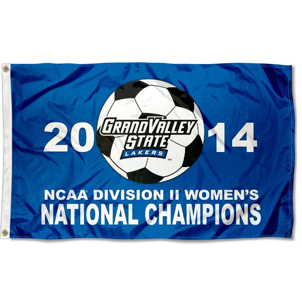 Grand Valley State Lakers 2014 Soccer Champs 3' x 5' Pole Flag