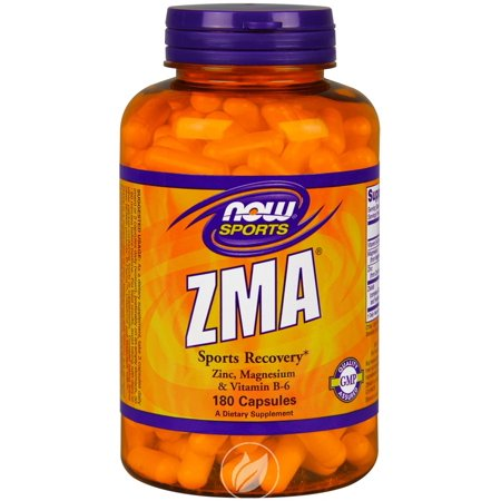 Now Foods - Sports, ZMA, Sports Recovery, 180 Capsules, Pack of