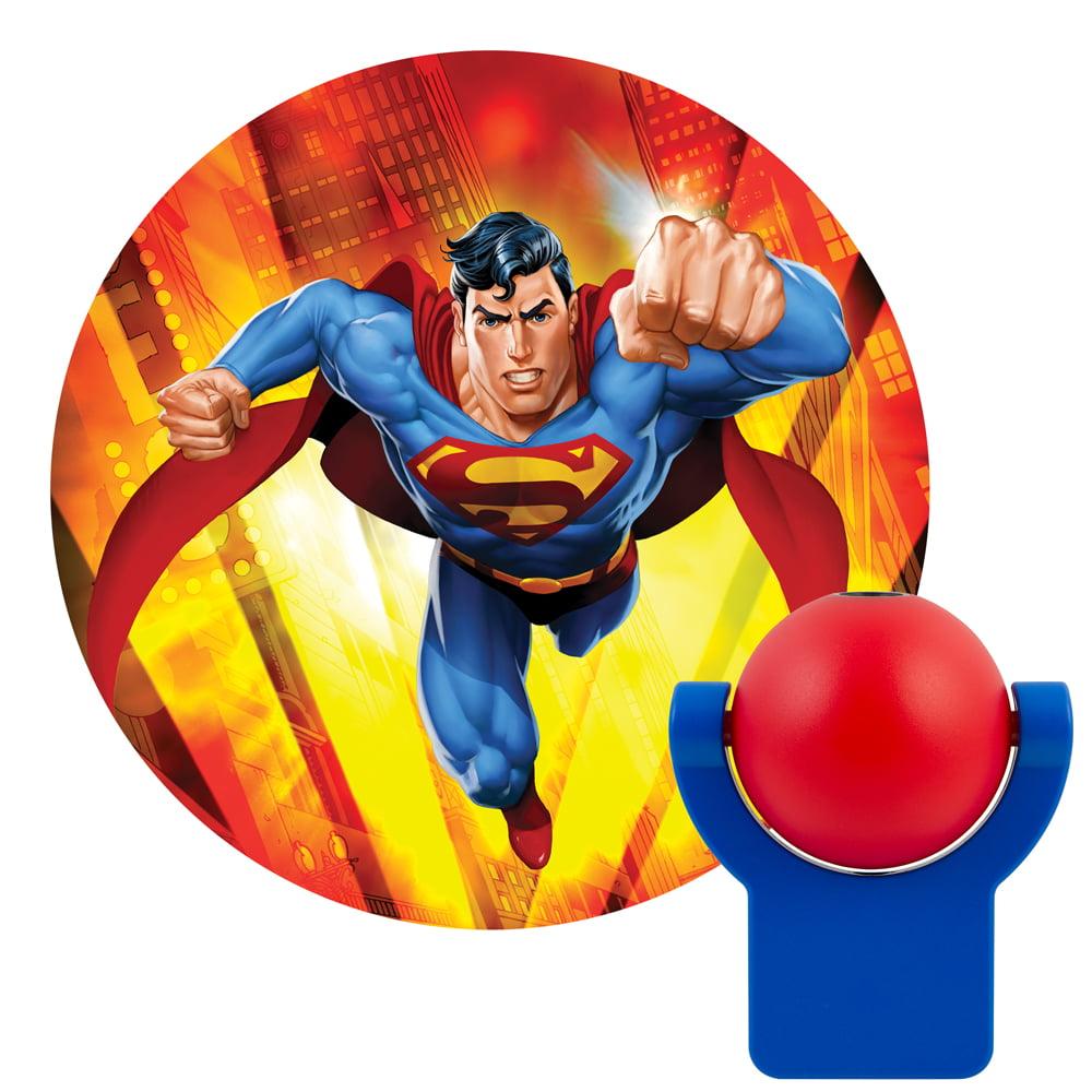 Projectables DC Comics Superman LED Plug-In Night Light, Superman Image, 10559