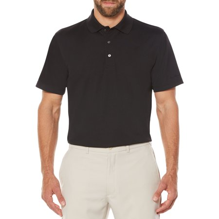 Mens and Big Men's Performance Short Sleeve Solid Polo shirt, up to size 5XL