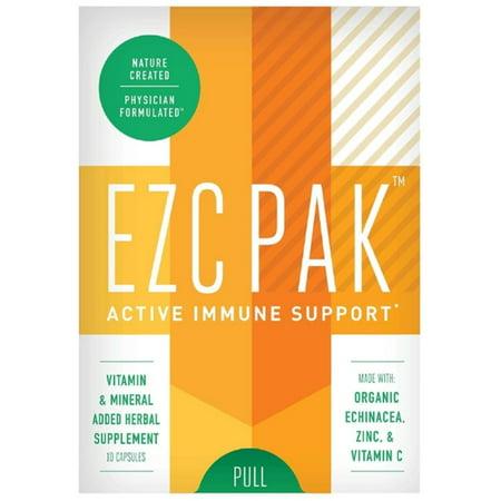 EZC Pak  Active Immune Support Herbal Supplement,  10