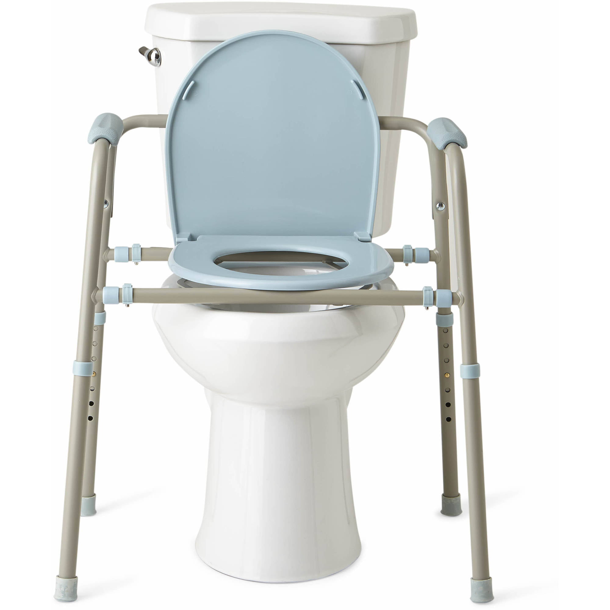 Medline Steel 3-in-1 Bedside Toilet Commode with Microban ...