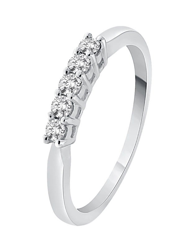 G-H,I2-I3 Size-9.25 1//5 cttw, Diamond Wedding Band in Sterling Silver