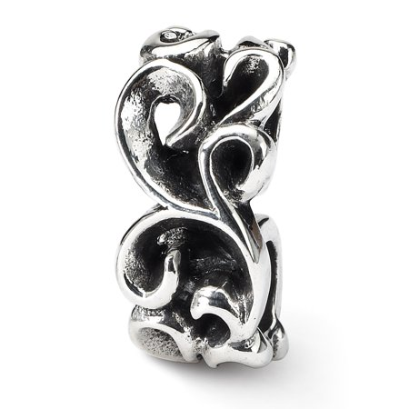 925 Sterling Silver Charm For Bracelet Scroll Connector Bead Specialty Fine Jewelry For Women Gifts For Her - image 1 de 9