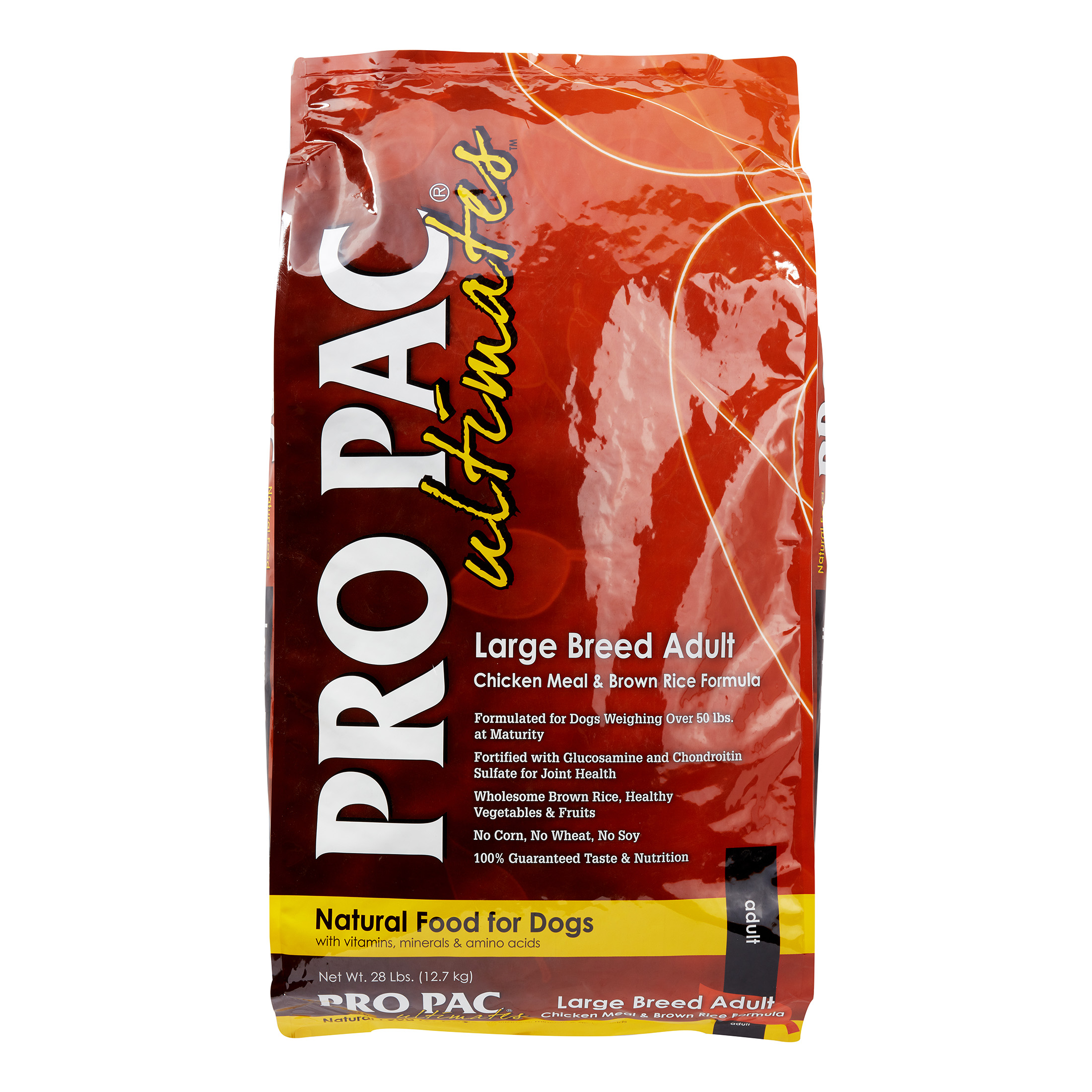 Pro Pac Ultimates Chicken Meal & Brown Rice Formula Large Breed Dry Dog Food, 28 lb
