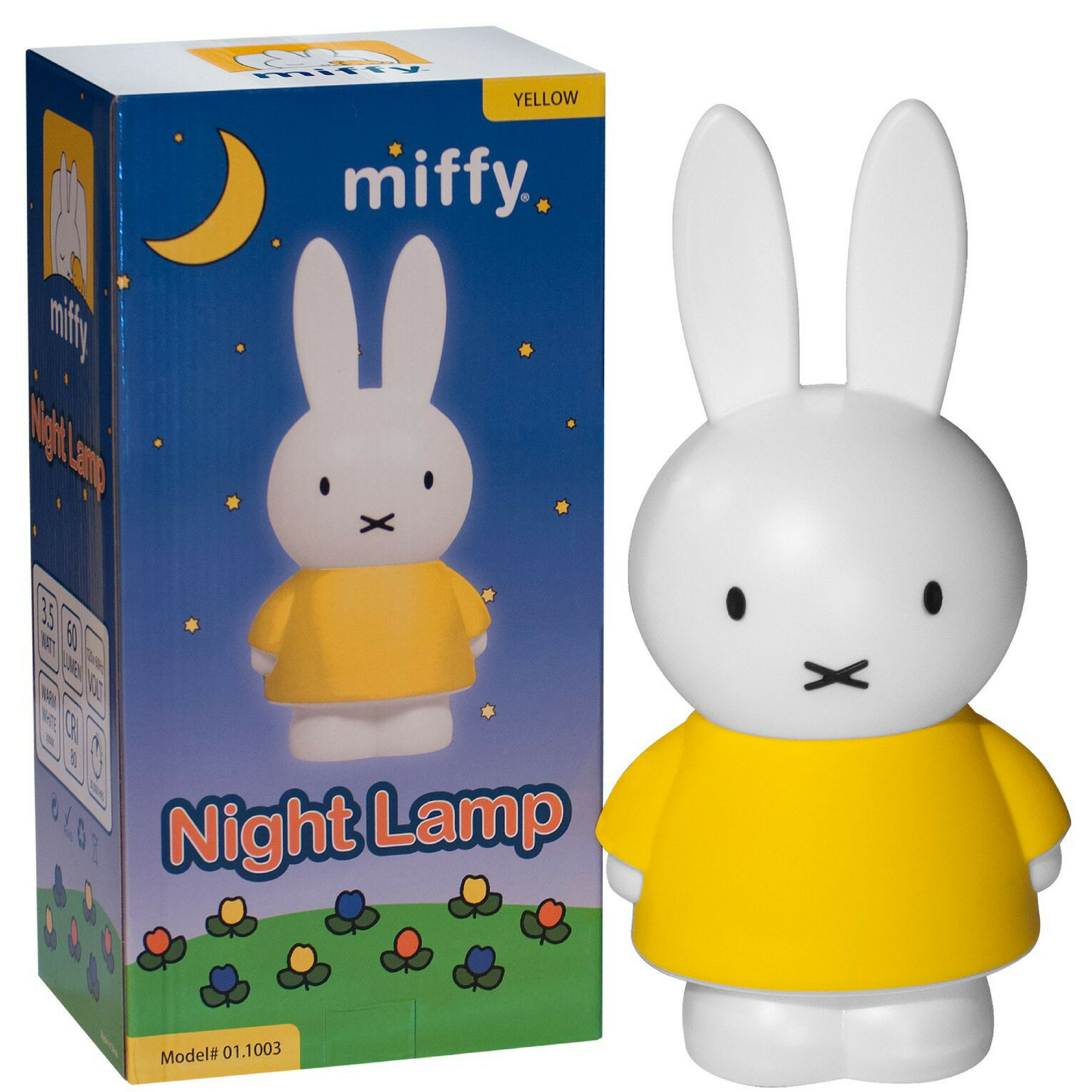 Miffy Lamp | LED Bunny Night Light for Nijntne Boek, Rabbit Lovers, and Kids for Sweet Dreams with Miffy, Yellow