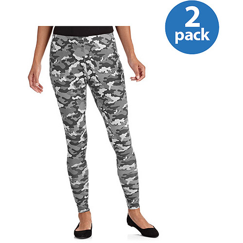 Faded Glory Women's Leggings, 2-pack