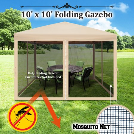 Strong Camel Easy Pop Up Canopy Tent 10-Feet x 10-Feet Gazebo with