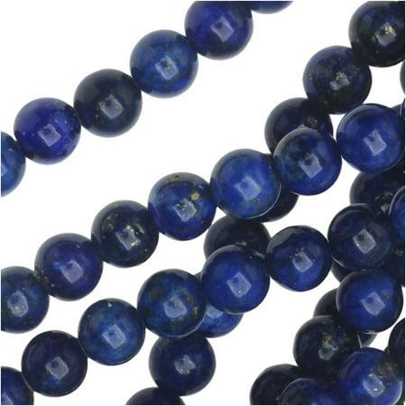 Dakota Stones Gemstone Beads, Lapis Lazuli, Round 6mm, 8 Inch Strand