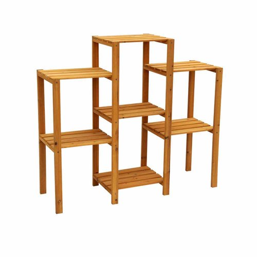 Leisure Season 7-Tier Plant Stand, Medium Brown by Plant Stands