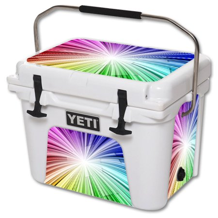 MightySkins Protective Vinyl Skin Decal for YETI Roadie 20 qt Cooler wrap cover sticker skins Rainbow Explosion - Rainbow Dash 20 Cooler
