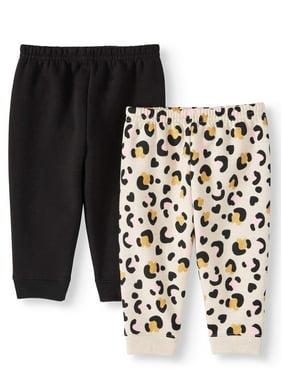 Garanimals Baby Girls Print & Solid Sweatpants, 2pk