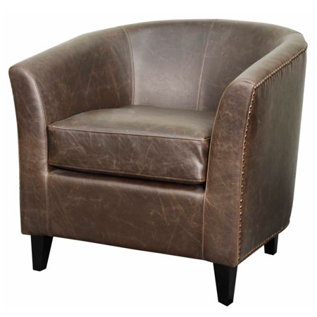 Orson Modern Rustic Bonded Leather Tub Chair Multiple Colors