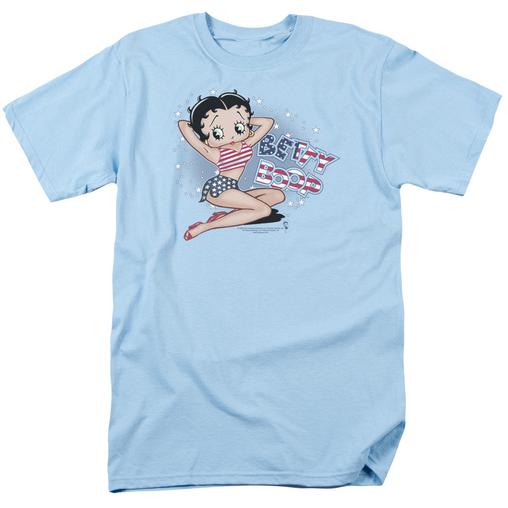 Betty Boop All American Girl Mens Short Sleeve Shirt