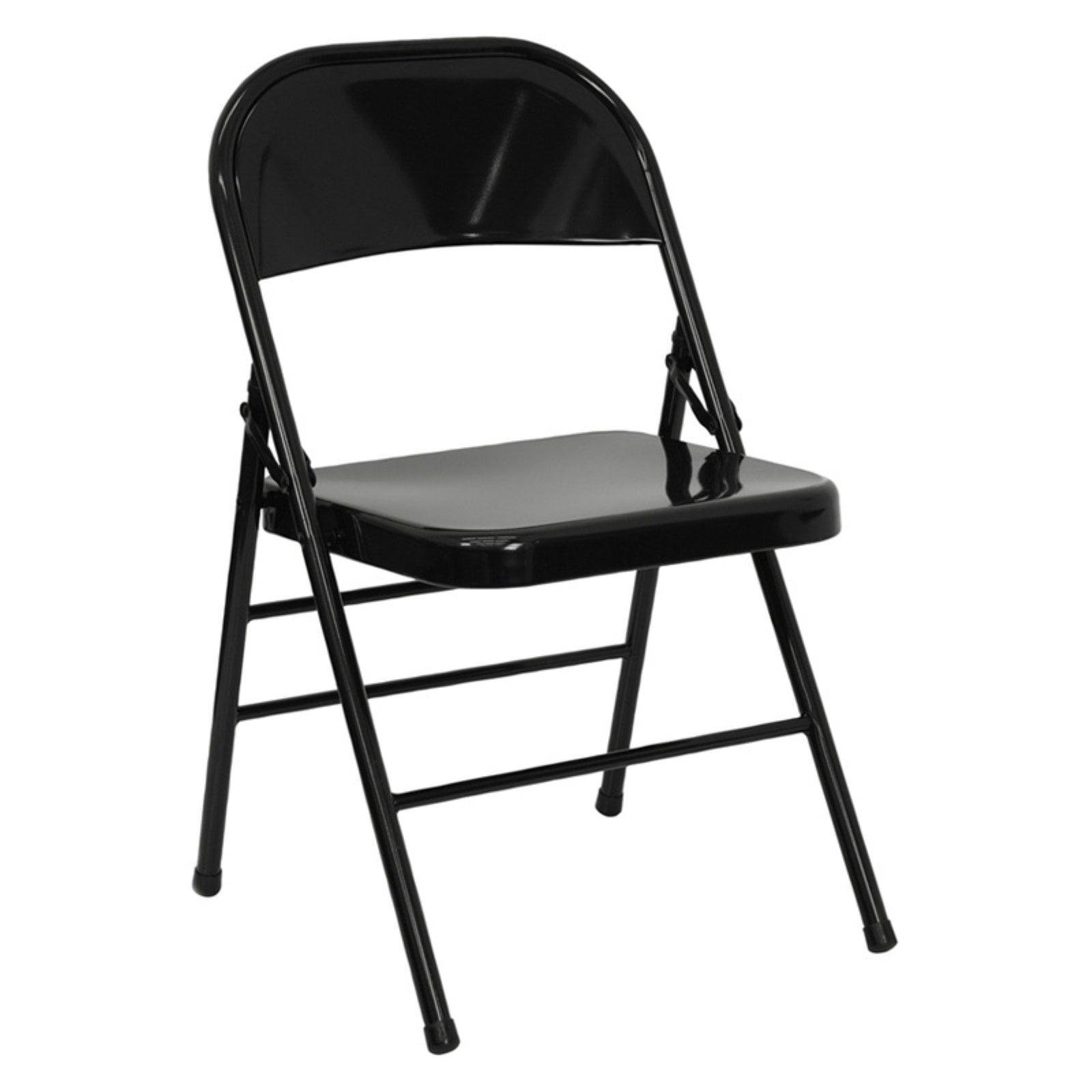 Flash Furniture HERCULES Series Triple Braced & Double Hinged Metal Folding Chair, Multiple Colors