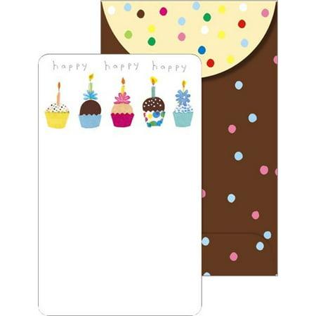 Mara-Mi Cupcakes Birthday Party Invitations, 10 count - Cupcake Birthday Invitations