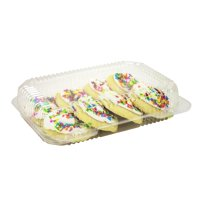 Dart C30UT1, 9Р¤x7Р¤x2Р¤ StayLock Clear Oblong Container With Clear Hinged Lid, Take Out Salad Dessert Fruit Deli Food Disposable Containers (100)