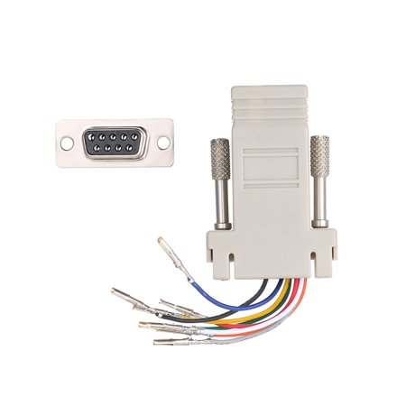 RJ45 to Serial Port Female to DB 9PIN Adapter 8P8C Module Modem Connector - image 2 de 7