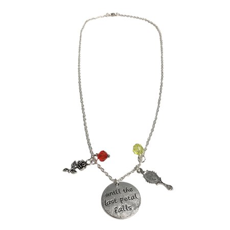 Until The Last Petal Falls Necklace Beauty And The Beast Bangle Charm
