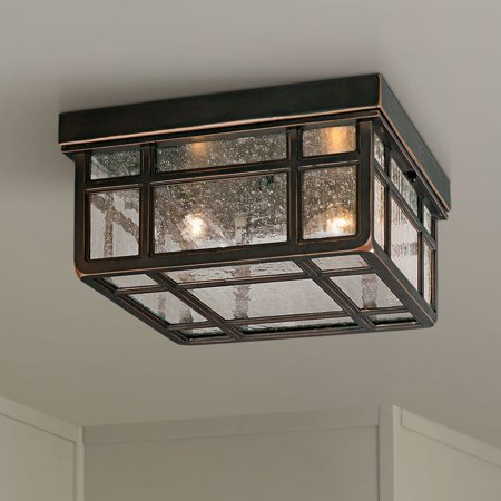 "Kathy Ireland J du J Sierra Craftsman 10 1/2""W Outdoor Ceiling Light"