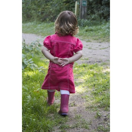LAMINATED POSTER Girl Welly's Red Dress Child Boots Autumn Young Poster Print 24 x 36 (Dresses For Women With Boots)
