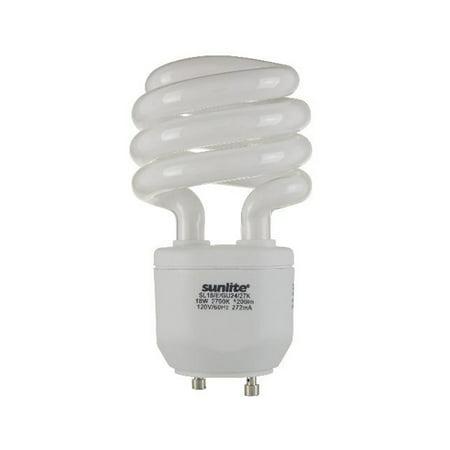 SUNLITE 18W GU24 T2 WW CFL Mini Twist Light Bulb