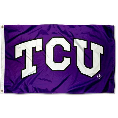 Texas Christian Horned Frogs TCU Logo 3' x 5' Pole Flag