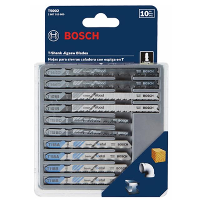 Robert Bosch Tool Group 197949 Wood & Metal-Cutting Jigsaw Blade Set - 5 Piece