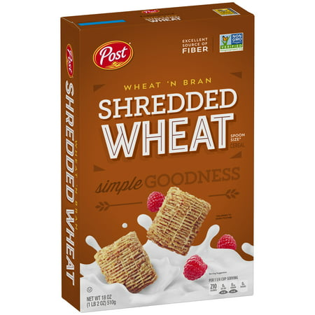 Post  Shredded Wheat Spoon Size  Wheatn Bran Cereal 18 Oz  Box