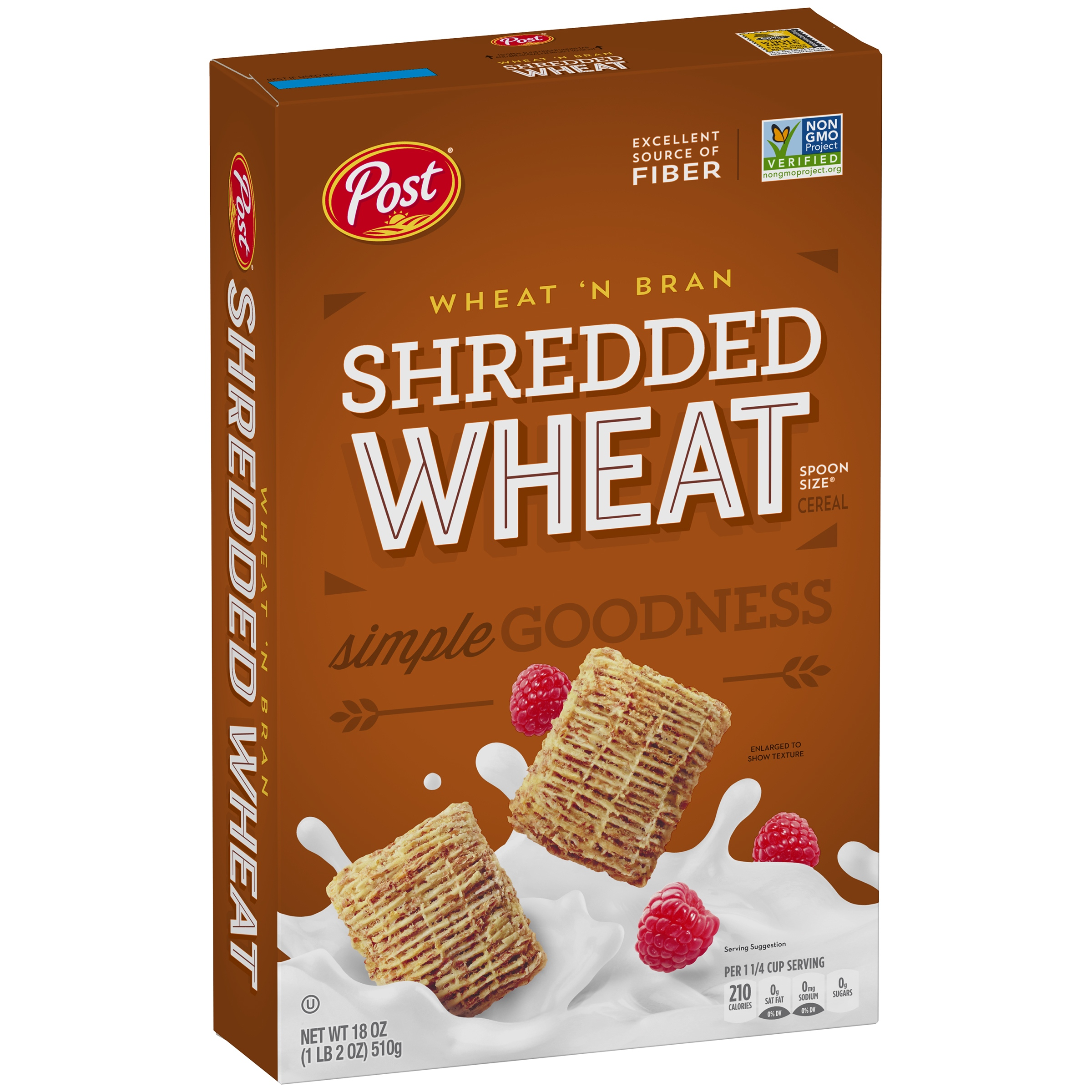 Post® Shredded Wheat Spoon Size® Wheat'n Bran Cereal 18 oz. Box