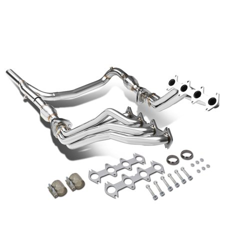 5.4l Header Exhaust - For 2004 to 2010 Ford F-150 5.4L V8 4WD Long Tube 4 -2 -1 Exhaust Header Manifolds + Gaskets + Y -Pipe
