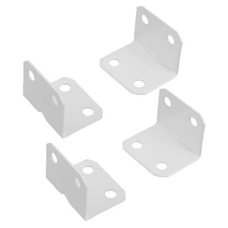 Furniture Metal L Shape Corner Brace Plate 90 Degree Right Angle Bracket 4pcs