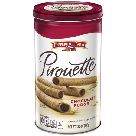 Pepperidge Farm Pirouette Crème Filled Wafers Chocolate Fudge Cookies, 13.5 oz. (Chocolate Cream Filled Wafers)