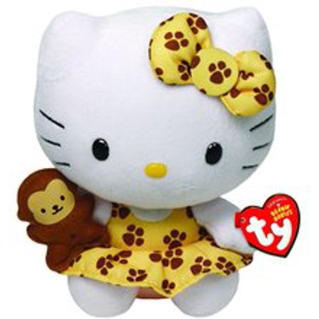 hello kitty small ty beanie baby 6 5 plush toy safari walmart com