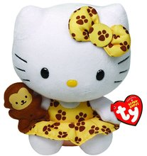 "Hello Kitty Small TY Beanie Baby 6.5"" Plush Toy - Safari"