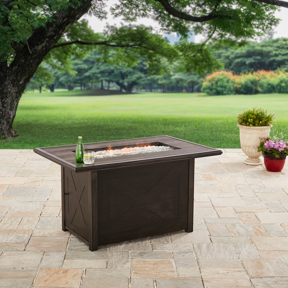 """Better Homes and Gardens 48"""" Rectangle Fire Pit - Gas"""