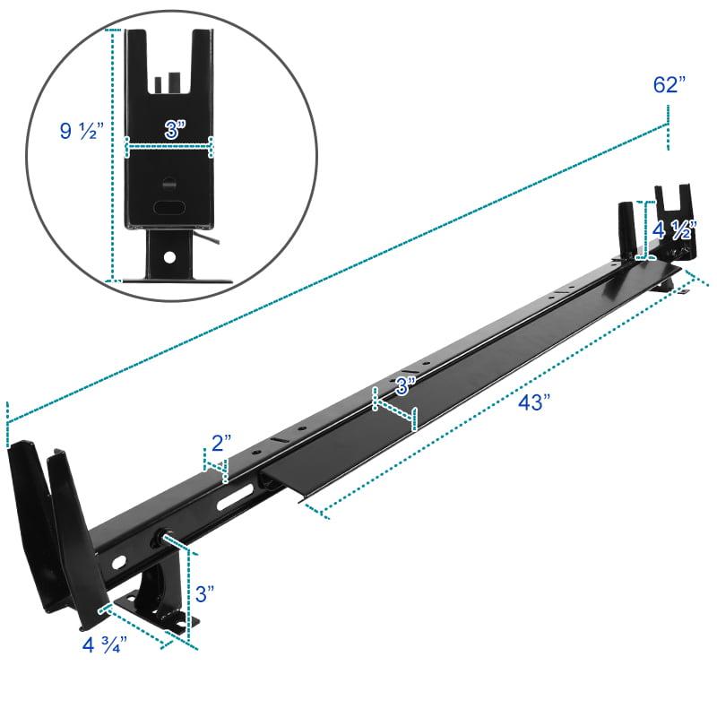 For 12-19 NV 13-19 Transit 3-Bar Van Roof Ladder Rack Cross Bars Cargo Carrier