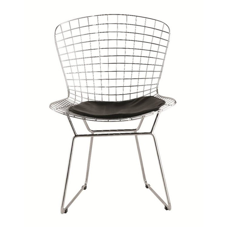 Fine Mod Imports Wire Side Chair in Black